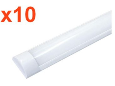 Réglette Lumineuse LED 150cm 60W (Pack de 10) - couleur eclairage : Blanc Froid 6000K - 8000K