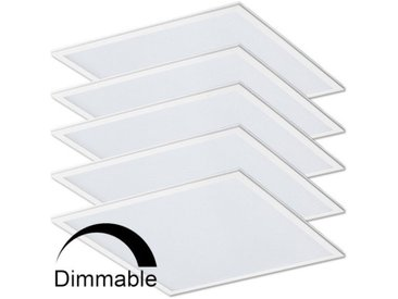 Lot de 5 Dalles Dimmable lumineuse LED 40W (340W) 600x600 | Blanc neutre 4000K