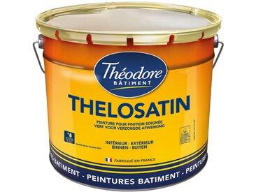 Peinture murale satinée idéale cuisine, salle de bain, chambre enfant... - Bénéficie de l'Ecolabel européen : Thelosatin - Blanc - 3L
