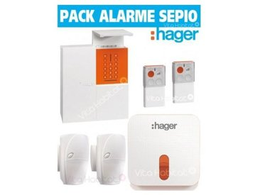 OFFRE Pack Alarme Radio SEPIO RLP305-MAISON avec Sirene Exterieure - RADIO- Logisty Hager