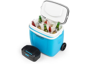 auna Picknicker Glacière 36 litres & sono portable Bluetooth USB batterie - bleu