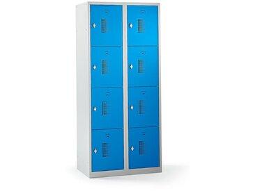 QUIPO – Vestiaire multicases verrouillable par dispositif pour cadenas, 8 cases - h x l x p 1800 x 800 x 500 mm, bleu - Coloris des portes: Bleu clair RAL 5012