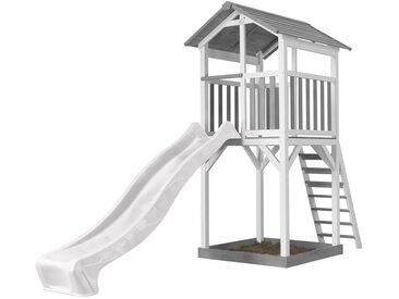 Beach Tower blanc/gris - avec toboggan blanc