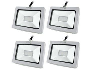 4pcs Projecteur Lampe LED 10W 750LM 10PCS3030LED 6000K éclairage IP65 étanche Recyclable Spotlight Lumière Pelouse Couloir Château Hôtel