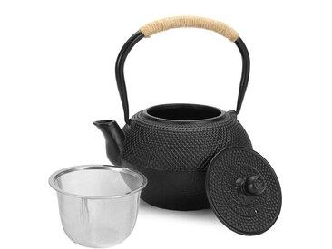 Insma - 1.2L Tetsubin Style Japonais En Fonte Hobnail Th¨¦ Noir Pot Cr¨¦pine De Bouilloire