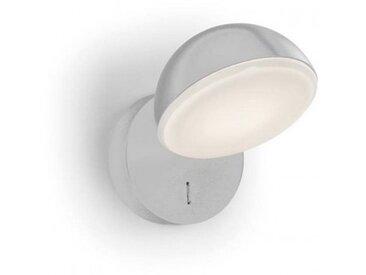Applique liseuse ronde Talk LED H15 cm - Blanc - Blanc