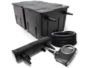 Kit de filtration avec Bio Filtre 60000l, 24W UV Stérilisateur, 80W Pompe et Pompe de Fontaine