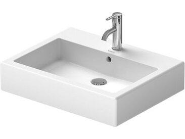 Lavabo meulé Duravit Vero 600 mm - fixations incluses - blanc - Blanc