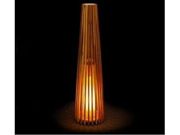 Lampe d'extérieur en teck 100cm BARCELOS - L 26 x l 26 x H 100