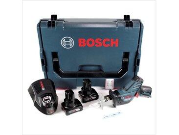 Bosch GSA 12V-14 Li-Ion Professional Scie sabre sans fil avec boîtier L-Boxx + 2x Batteries GBA 12 V 6,0 Ah + Chargeur GAL 1230