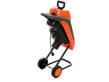 DCRAFT   Broyeur de végétaux   Moteur éléctrique Puissance nominale 2800W   Doubles couteaux   Outillage jardin pelouse   Orange - Orange