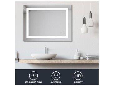 LED Miroir de salle de bains avec éclairage LED 20W 60x80CM Touche tactile 4000K LED Miroir de maquillage