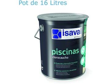 Peinture Piscine Caoutchouc Chloré - 16 L - Isaval   Blanc