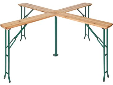 Table de Jardin de Réception Pliante Haute en Bois 241 cm x 241 cm x 103 cm Marron