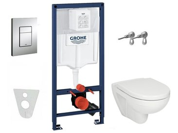 Grohe Pack WC complet avec cuvette JIKA (Groupe Roca-Laufen) et abattant SOFTCLOSE (36000SET)