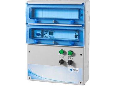 Coffret Electrique Piscine Multifonctions Filtration pour 2 Circuits Eclairage 100W (1 circuit inclus) NALTO
