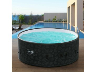 Piscine Spa Pool | Gonflable | Chauffage | Exterieur | Ronde Drop-Stitch - Anthrazit - Arebos