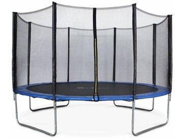 Trampoline Ø400cm - Mercure bleu avec son filet de protection - Trampoline de jardin 400cm 4m