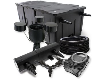 SunSun Kit de filtration de bassin 90000l 36W Stérilisateur NEO8000 70W Pompe 25m Tuyau Skimmer