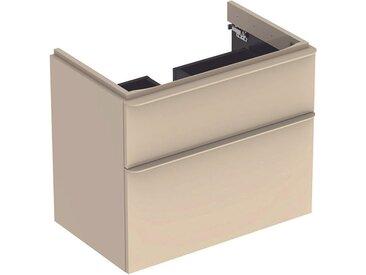 Geberit Meuble sous-lavabo Geberit Smyle Square, 500.354., 884x617x470mm, avec 2 tiroirs, Coloris: Laque brillante gris sable - 500.354.JL.1