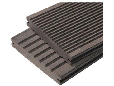 PACK 1 m² lame de terrasse composite Maxima ACCESSOIRES (3 coloris) 3600 mm - Coloris - Gris anthracite, Epaisseur - 22mm, Largeur - 14 cm, Longueur - 360 cm, Surface couverte en m² - 1
