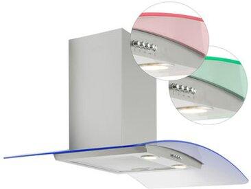 Culina Hotte aspirante / Hotte incurv e en verre 90cm clairage d'ambiance LED / l'acier inoxydable