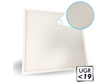 Dalle LED 40W microprismatique UGR19 3ans 60x60 4000Lm Eq 380W | Blanc neutre 4000K
