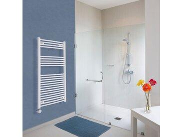 Sèche-Serviettes Design Électrique – Blanc – 120 x 60cm Incurvé – Etna