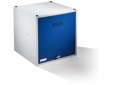 Wolf Casier verrouillable extensible - h x l x p 500 x 500 x 500 mm - pour cadenas, porte bleu gentiane