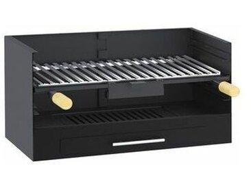 Barbecue à poser ou à encastrer en acier au carbone 60x40x33cm