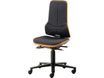 Chaise d'atelier pivotante Neon roulettes sans élément de rembourrage noir bleu 450-620 mm contact permanent