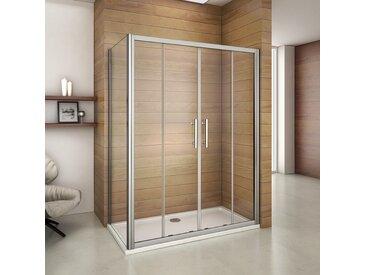 Porte de douche 120x80x187cm cabine de douche l'accès au centre largeur de la paroi:80cm