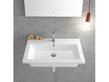 Ceramica Globo Forty3 - Lavabo suspendu 60x47 cm, en céramique blanc brillant (code FO060.BI)