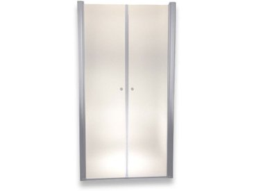 Porte de douche 195 cm largeur réglable 76-80 cm Dépoli-opaque
