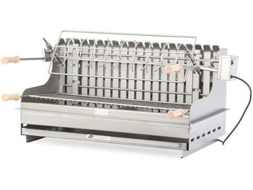 Barbecue à charbon de bois Exclusive Irissarry 78*32 Inox Made in France - Le Marquier
