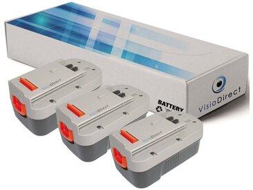 Lot de 3 batteries pour Black et Decker Firestorm FS18 ponceuse 3000mAh 18V