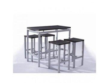 Ensemble table et chaises. 1 table haute + 4 tabourets design REAL. Ensemble design et pratique pour votre coin repas.