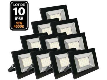 10 Projecteurs Led 10W Ipad 4500k Haute Luminosité