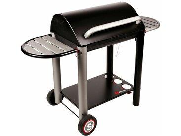 Barbecue au charbon de bois VULCANO 3000 - Noir - Somagic