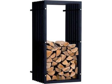 Porte-bûches Irving Wand noir/mat 40x50x100 cm