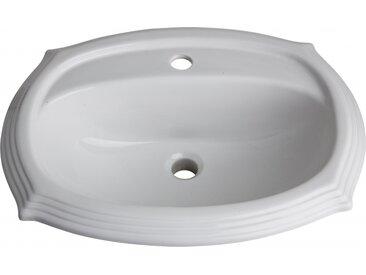 Vasque à encastrer rétro blanche