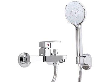 Robinet de tête de robinet mural de haute qualité à montage mural avec robinet de douche en chrome pour salle de bain Mohoo