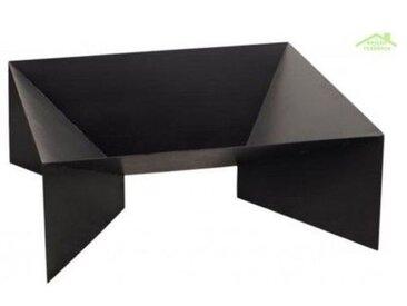 Brasero de jardin carré DINE en acier naturel ou noir