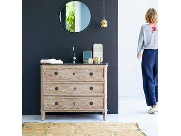 Meuble en bois de pin avec simple vasque 100 Emily