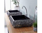 Vasque en marbre Scrula Slim Black 50