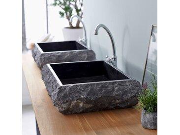 Vasque blanche en marbre Scrula Slim Black 50