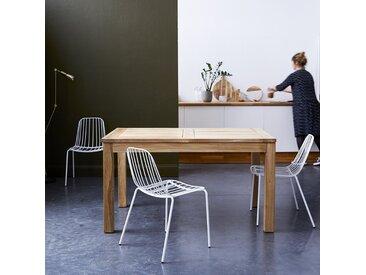 Table en bois de teck à rallonge 140x90 Cloé