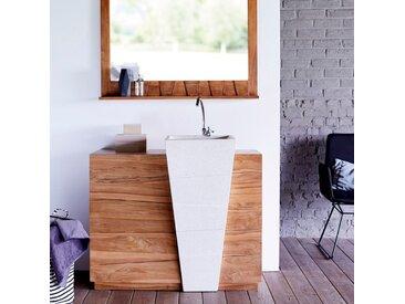 Meuble en bois de teck avec vasque 100 Icone