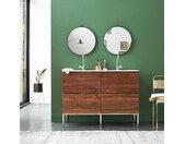 Meuble Salle de bain en bois de palissandre et céramique 120 Nova