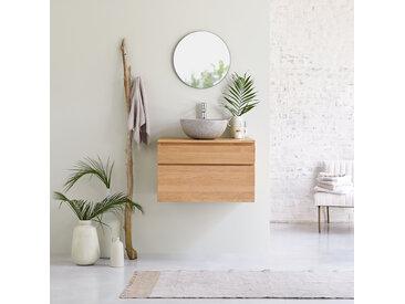 Meuble Salle de bain en bois de chêne 80 Jacob